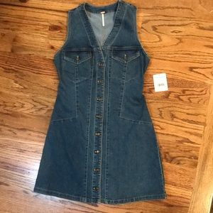 Free People Denim Button  Jumper
